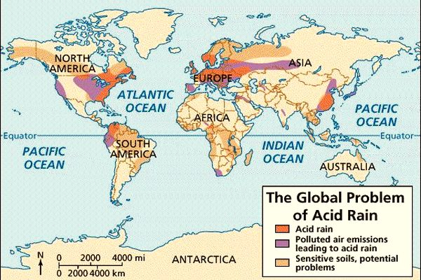 an analysis of cause and effect of acid rain in eastern canada and north eastern united states Global warming & acid rain msn encarta causes of acid rain the principal cause of acid rain • acid rain from power plants in the midwest united states.